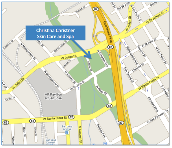 Map to Christina Christner Skin Care and Spa